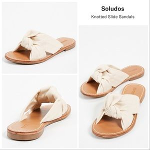 New Soludos Knotted Slide Sandals